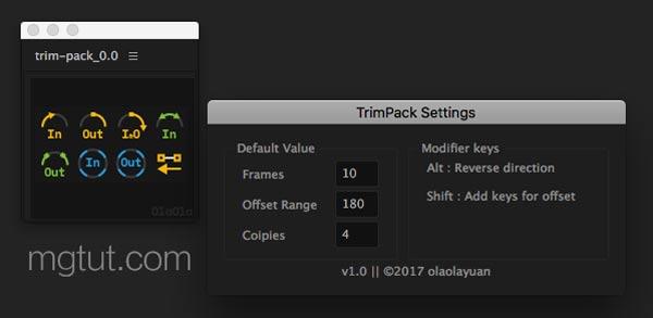 AE路径修剪生长动画脚本 Trim Pack V1.1