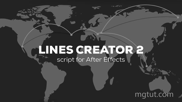 AE图层物体连线MG动画脚本 Lines Creator v2