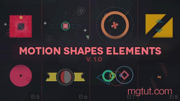AE模板-300+高级复古MG图形动画元素