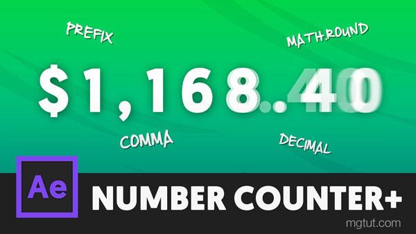 数字增长数值计数动画AE教程(中英文字幕) Animated Number Counters