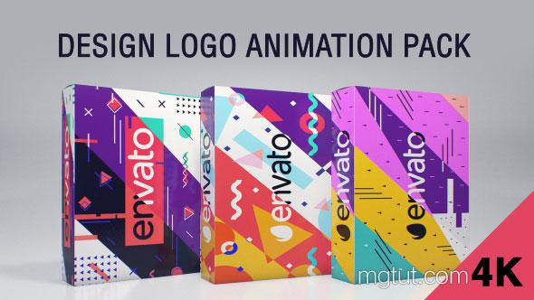 AE模板-扁平化MG图形设计感Logo动画