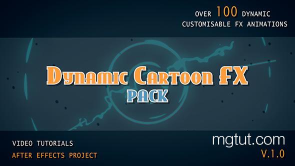 AE模板-205组动态手绘游戏卡通MG动画元素 + 带通道视频素材