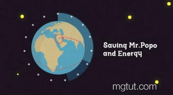 扁平化地球旋转MG动画AE教程