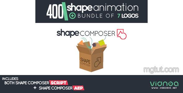 AE模板+脚本:400组MG图形动画 + Logo动画