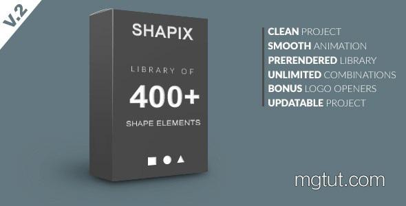 AE模板-400组基础简洁MG动画图形元素 + 视频素材