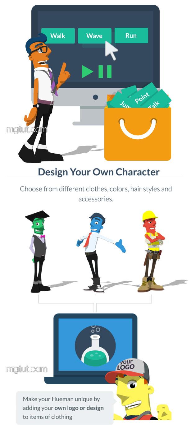 AE模板-三维彩色卡通人物角色MG动画