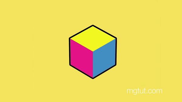 扁平化正方体旋转MG动画AE教程(中英文字幕) Logo Animation
