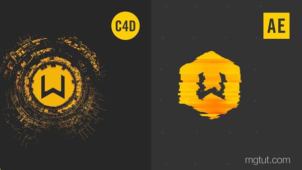 音频节奏波形动画AE+C4D教程(中英文字幕) Audio-Based Glitch Maps